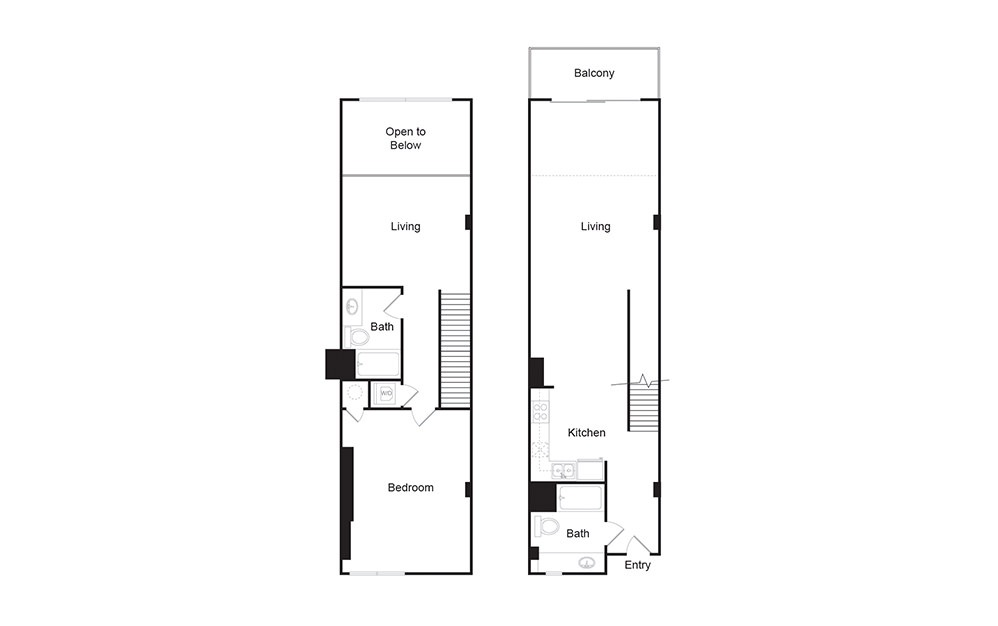 2C 2 bedroom 2 bath floor plan