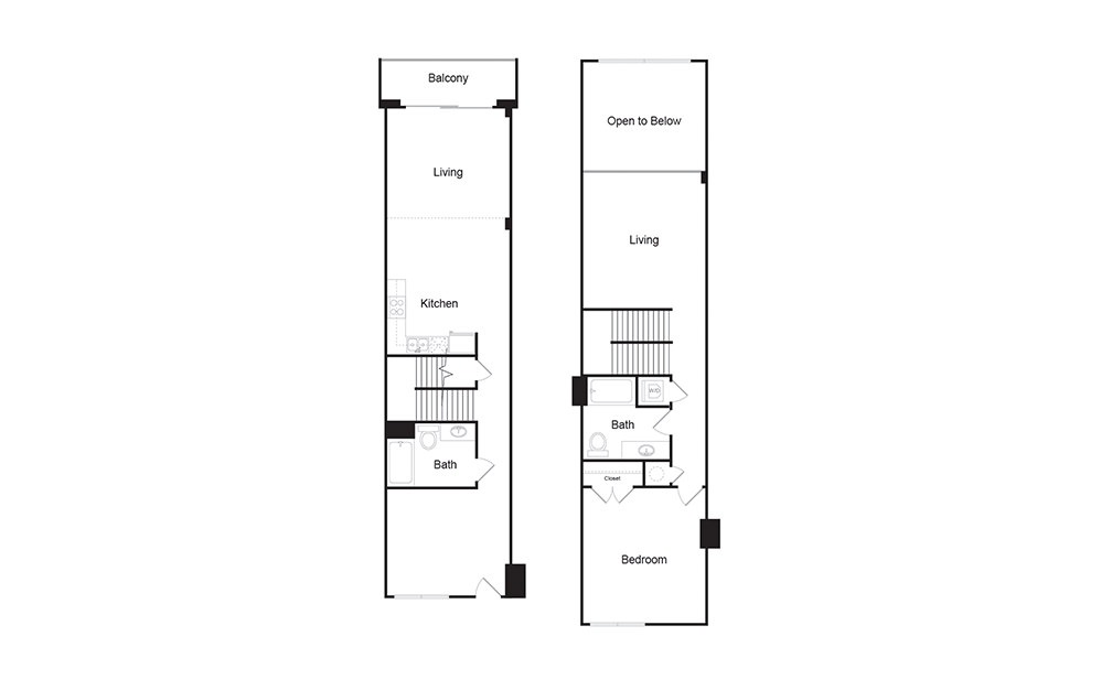2E 2 bedroom 2 bath floor plan